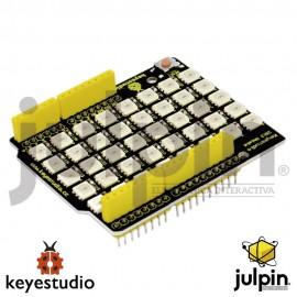 Shield o escudo 40 RGB LED 2812 matriz de píxeles