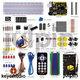 Kit básico de inicio en ARDUINO, incluye placa UNO R3 (starter kit)