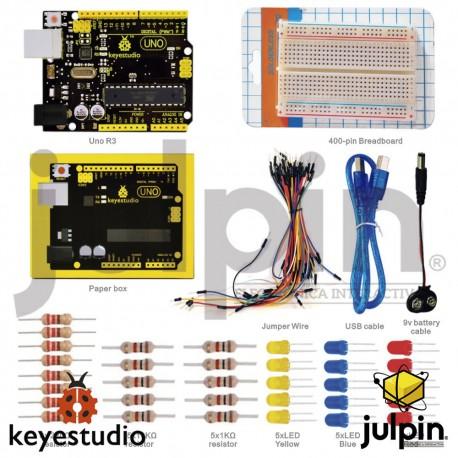 Kit protoboard y UNO R3 para Arduino