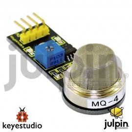 Módulo sensor de gas natural y gas metano (MQ-4) para ARDUINO