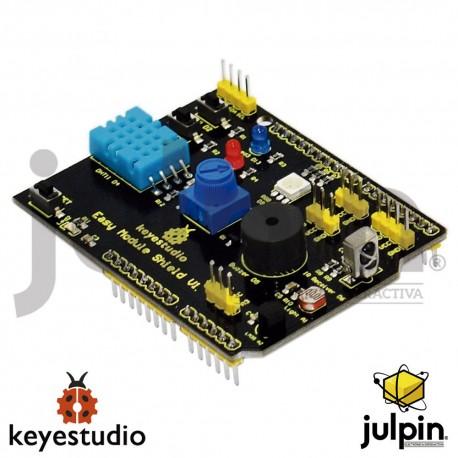 Shield o Escudo multi-proposito V1 con varios sensores para arduino