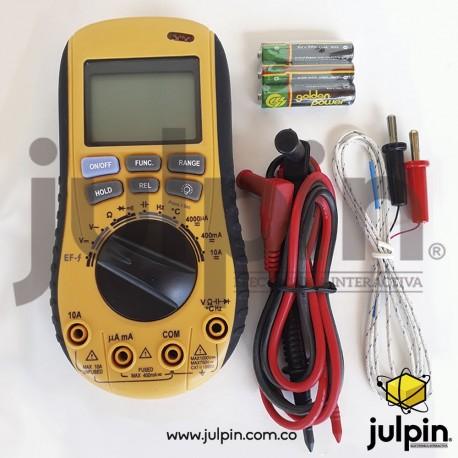 Multímetro con detector de voltaje sin contacto
