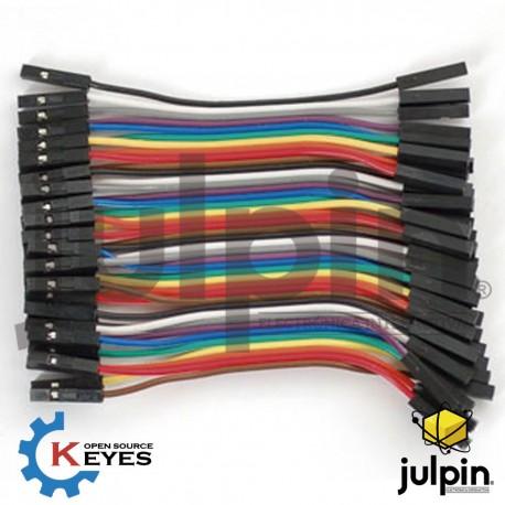40 cables puente hembra-hembra de 10cm de largo