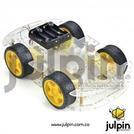 Chasis acrílico doble de 4 ruedas para carro inteligente
