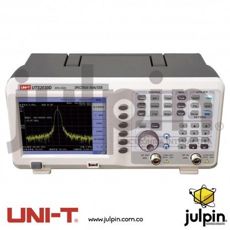 Analizador de espectro. Serie UTS2030D