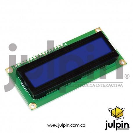 Pantalla LCD 2x16 con la interfaz de comunicación I2C para ARDUINO