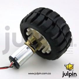 Kit motor N20 con rueda de goma todo terreno