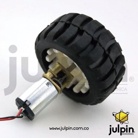Kit motor N20 con rueda de goma