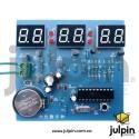 kit de reloj digital de 6 dígitos LED rojo para armar (sin incluir la batería)