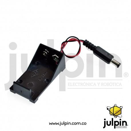 caja para batería 9V con enchufe