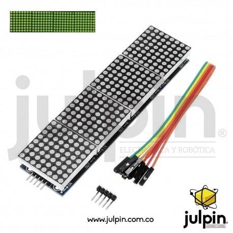 Módulo de 4 matrices LED MAX7219