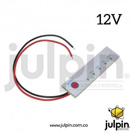 Tablero indicador de porcentaje de carga 12V