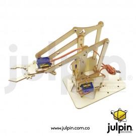 Kit brazo robótico de madera (sin servos)