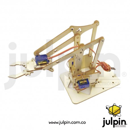 Kit brazo robótico de madera