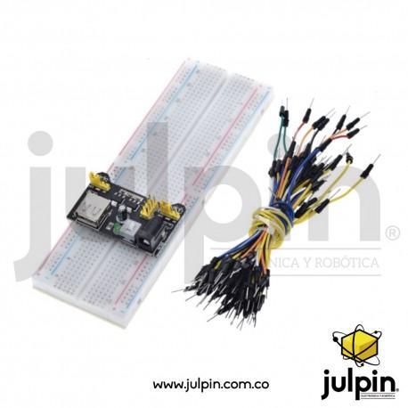 Kit de montaje de circuitos.