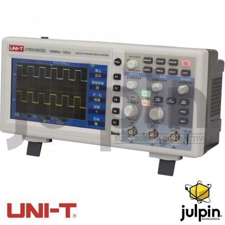Osciloscopio digital. Serie UTD2102CEL