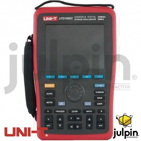 Osciloscopio digital portátil con multímetro. Serie UTD1062C
