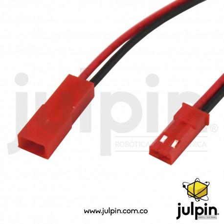 1 par de conector macho + hembra con cable de 10cm