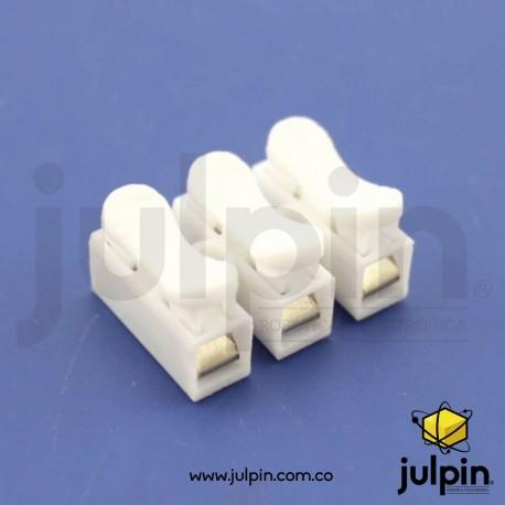 Conector rápido de resorte para unir cables