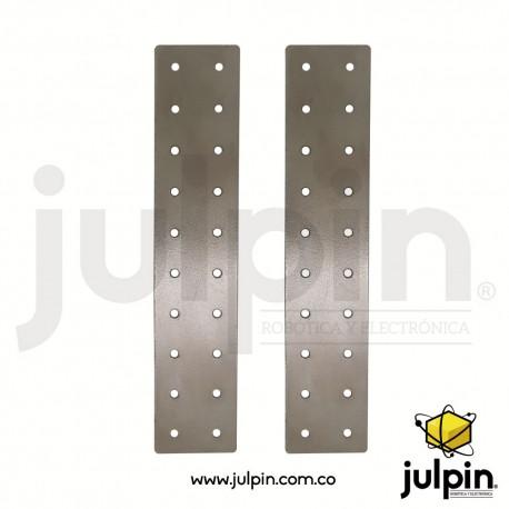 1 Par de tableros o placas de acero perforado
