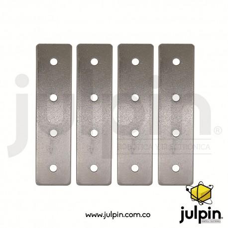4 tableros o placas de acero perforado