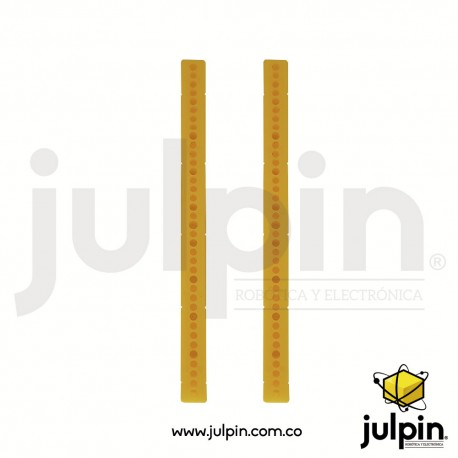 1 Par de varillas o pilares perforados de plástico ABS