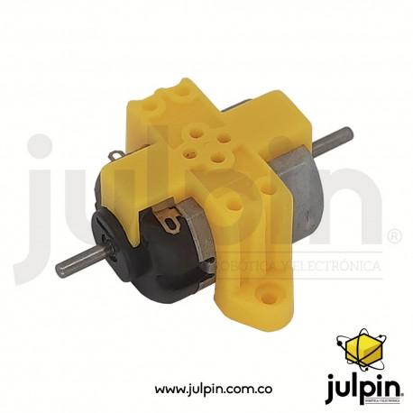 1 Par de bloques o soportes plásticos para motor R130