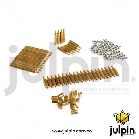 Set de separadores o pilares de bronce para PCB