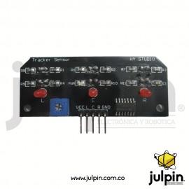 Seguidor infrarrojo de línea de 3 canales