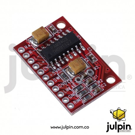 Mini-amplificador de audio de 3W x 2 canales