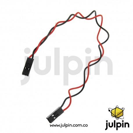 Cable conector de 2 pines hembra