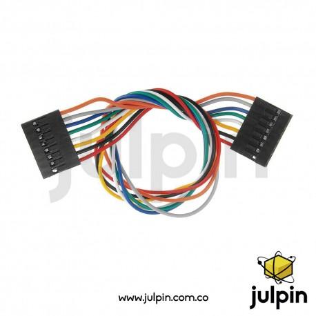 Cable conector de 8 pines hembra