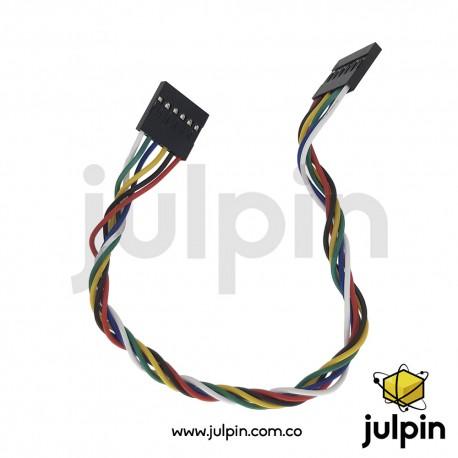 Cable conector de 6 pines hembra