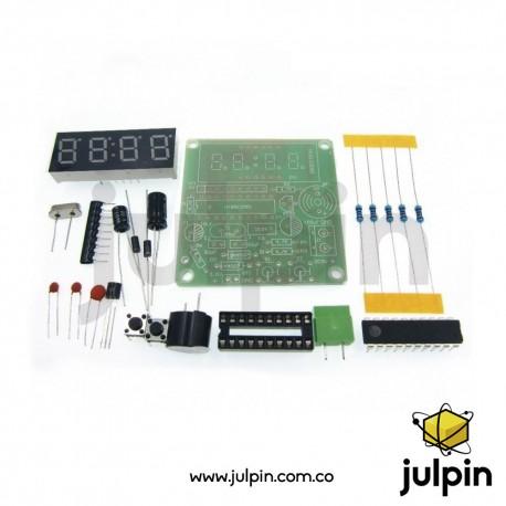 kit de reloj digital de 4 dígitos para armar