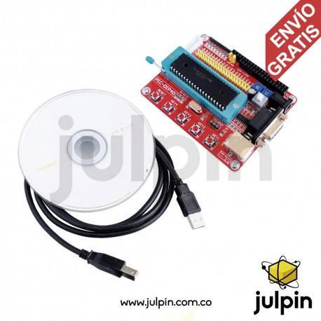 Placa de desarrollo de sistema PIC + PIC16F877A + Cable USB