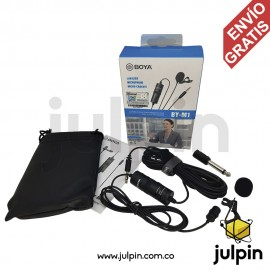 Micrófono de solapa para celulares, PC y video cámaras
