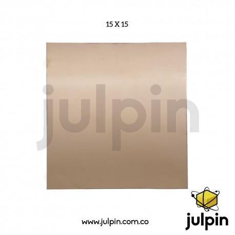 Lámina de baquelita de 15cm x 15cm