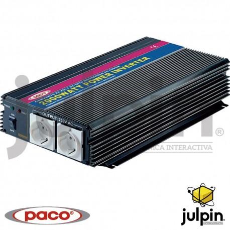 INVERSOR DE CORRIENTE DE 2000 Watts de 24 voltios