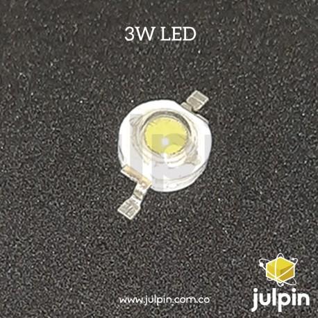 Led de luz blanca de alta potencia (3W)