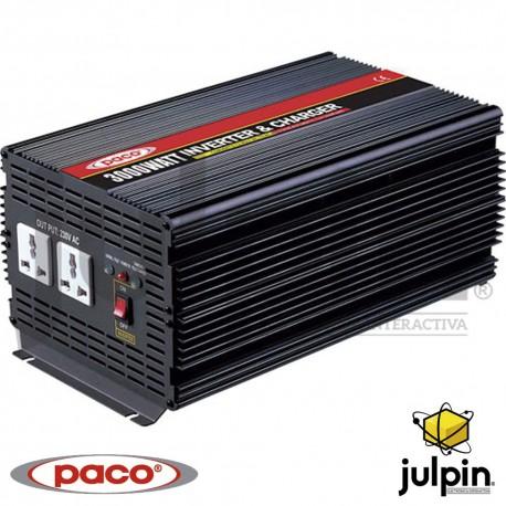 Inversor de corriente de 12 voltios a 115 voltios con cargador de baterías