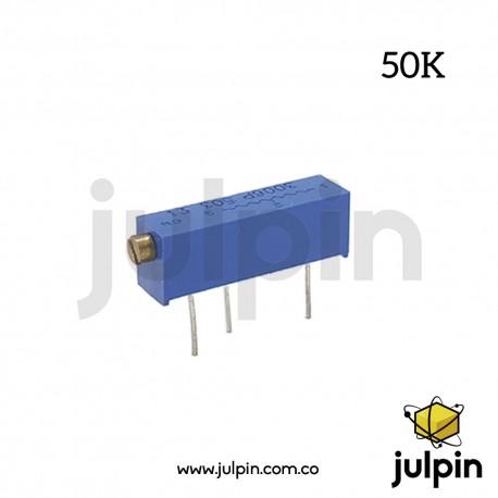 Potenciómetro trimmer de 50K