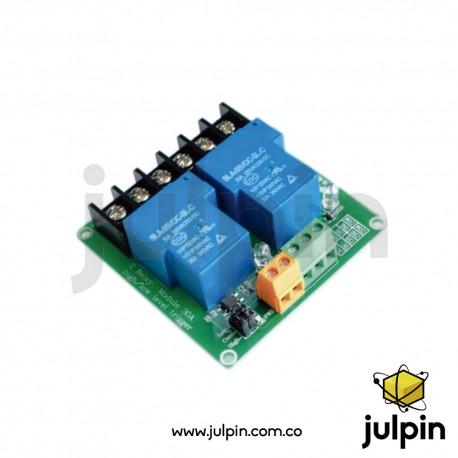 Módulo de relé alta potencia de 2 canales  (30A)