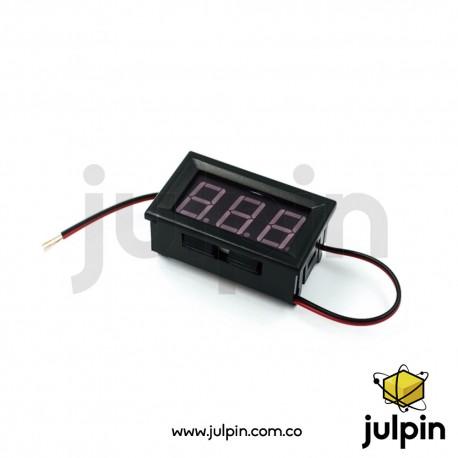 Voltímetro digital DC de 4.5V a 30V