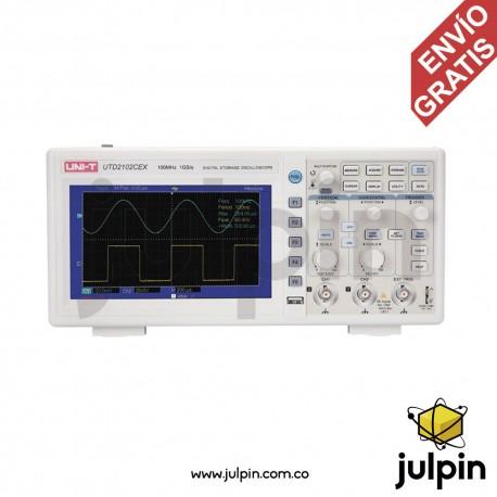 Osciloscopio de 100Mhz y 2 canales. UTD2102CEX