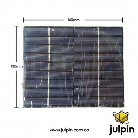 Panel solar de 9V a 300mA