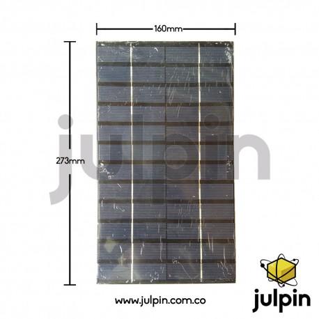 Panel solar de 12V a 500mA