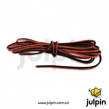 1metro de cable duplex calibre 22 (Rojo y negro)
