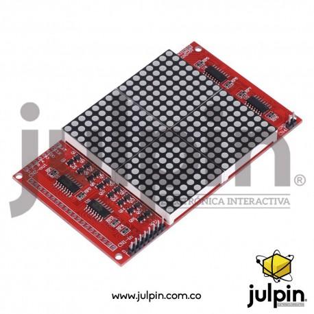 Matriz de puntos LED 16 x 16 con cables y pines para Arduino