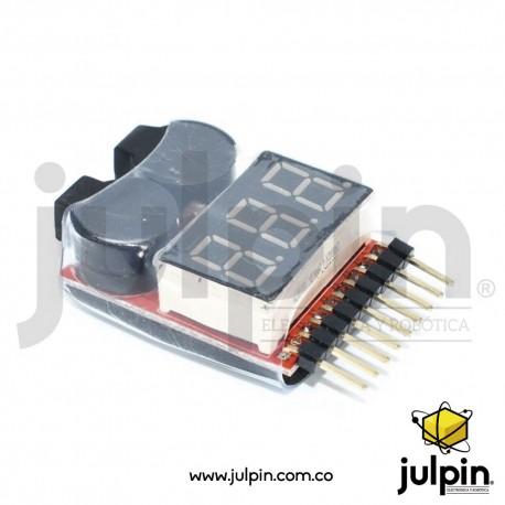 Probador de carga para baterías LiPo de 1 a 8 Celdas