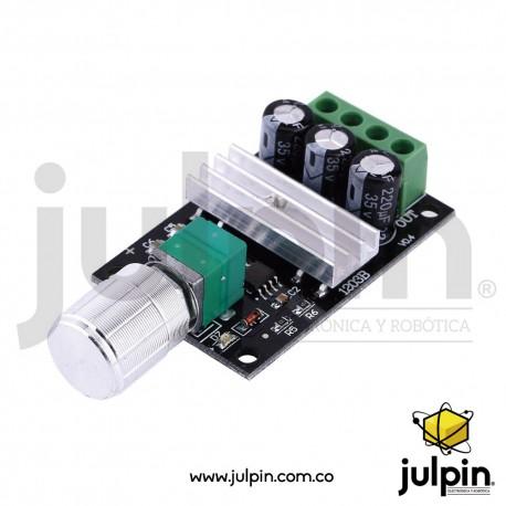 Controlador PWM de velocidad de motores DC